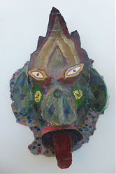 Mask Made of Paper Mache Image